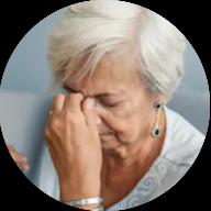 Photo of Atlanta woman experiencing nasal sinuses issue