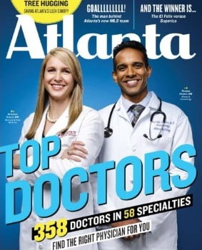 Dr. Thomas Chacko on the cover of Atlanta Top Doctors Magazine