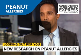 Dr. Chacko discusses the latest research on peanut allergies on Weekend Express