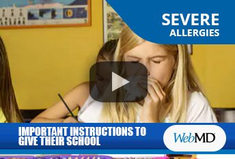 r. Thomas Chacko Discussing Allergy Instructions to Give to Schools on WebMD