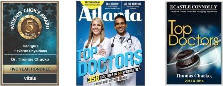 Awards Dr. Thomas Chacko, Atlanta Allergist has received