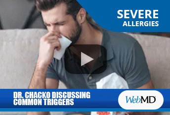 Dr. Thomas Chacko Discussing Common Allergy Triggers on WebMD