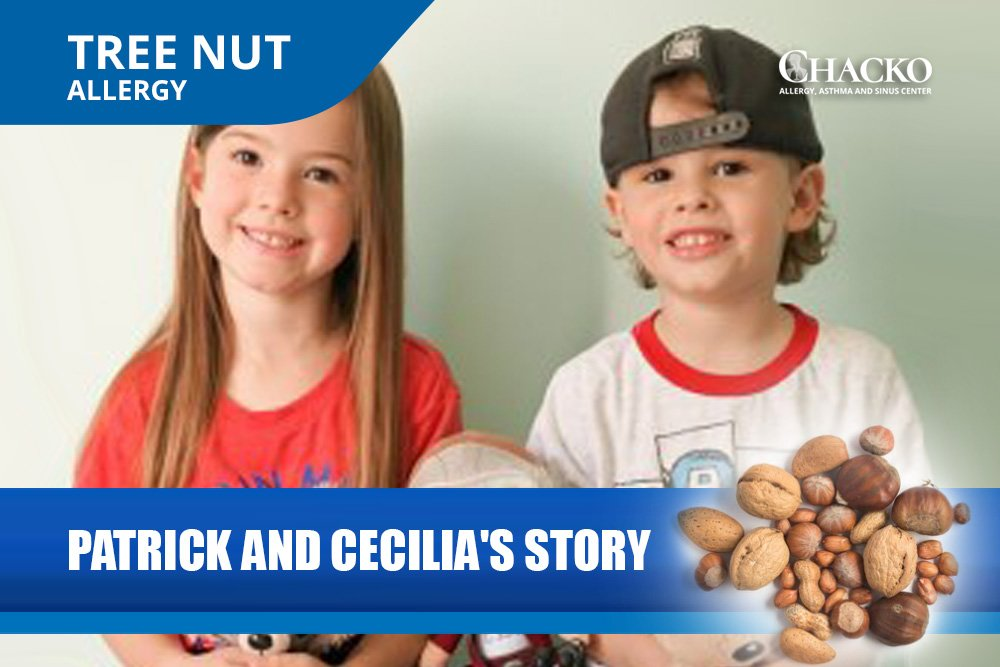 dr chacko allergy treatment patrick cecilia's story - tree nut allergy